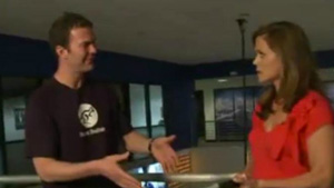 Baby Carrier Pre / post-natal workout video on local TV station by Denver Personal Trainer Jamie Atlas
