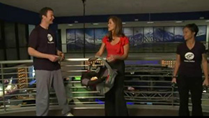 Fox31 baby carrier workout with Bonza Bodies Denver Personal Trainer Jamie Atlas