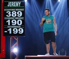 Jeremy lost a 199 lbs.  Too bad they don't talk about the blood in the urine or the fact that he gained it all back 7 months later....