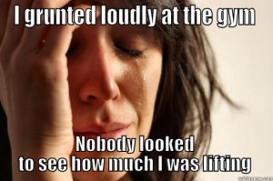 grunting at gym
